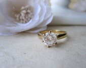 Vintage Faux Gold Diamond Ring