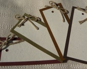 RUGGED eco-friendly scrapbooking tags - Set of 4