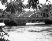 Rainbow Bridge Photo - Bridge Photography - Historic - Sepia - Black And White