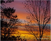 Autumn Sunset Photo - Sunset Photography - Nature - Landscape