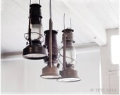 Vintage Lamps Photo - 8 x 10 Rustic Photography - Matted And Ready To Frame