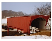Old Covered Bridge Photo - 8 x 10 Photography - Matted - Landscape