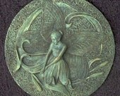 Garden Fairy Number 4 Plastic Mold to Make a Concrete or Cement Stepping Stone or Plaque
