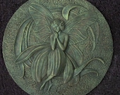 Garden Fairy (number 5) Plastic Mold to Make Concrete or Cement Stepping Stone or Plaque