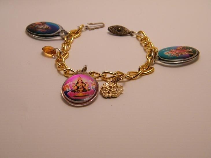 hindu gods charm bracelet