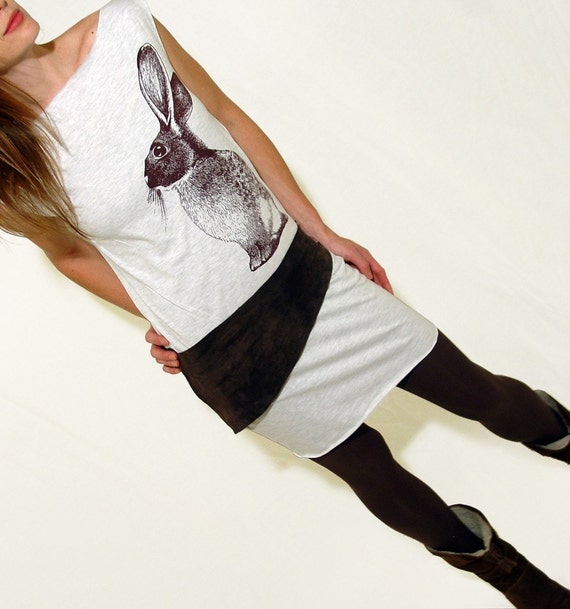 Rabbit on an Ash T Dress - size Large