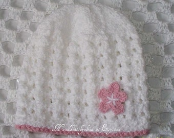 Knitting Rice Stitch In The Round : Knitting Pattern 75 Rice Stitch Hat for a Girl by handknitsbyElena
