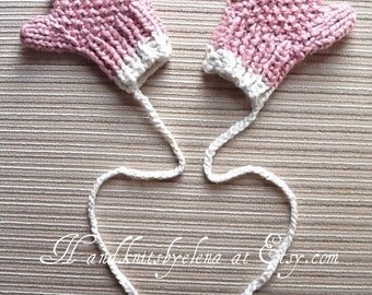 Basic Knitting Pattern For Baby Mittens : Popular items for cotton mittens on Etsy