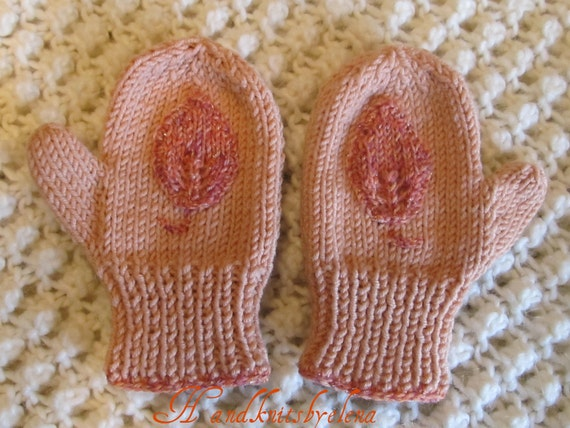 Knitting Pattern Numbers : Number 27 KNITTING PATTERN Mittens with by handknitsbyElena