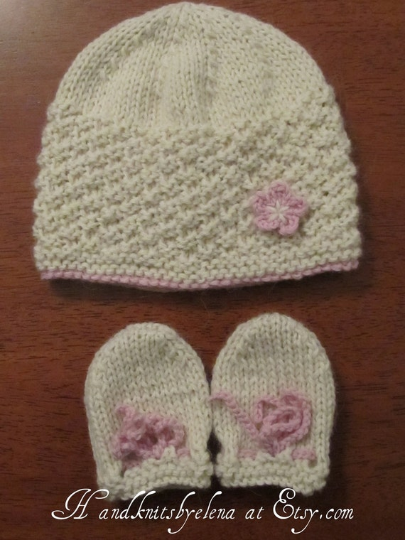Basic Knitting Pattern For Baby Mittens : Number 15 Beginner Knitting Pattern Baby by handknitsbyElena