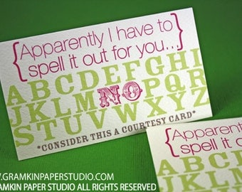 Spell it out for you Courtesy Cards-Set of 8