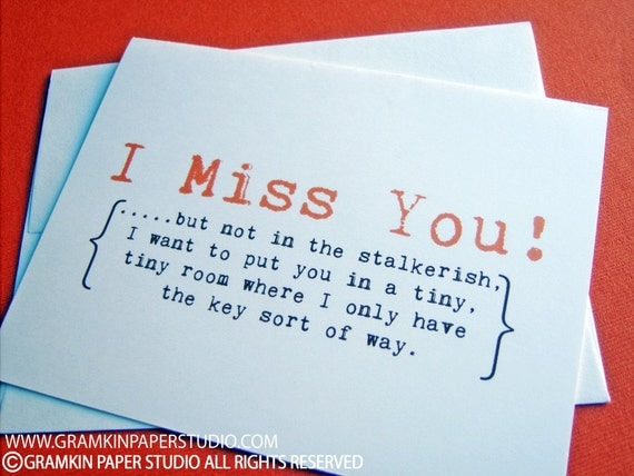 I Miss You Notecards-Set of 10