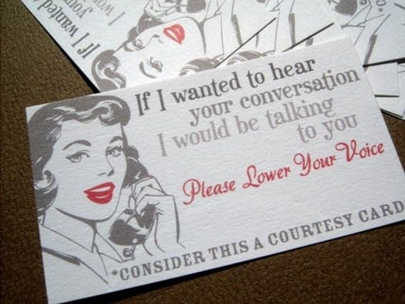 Lower Your Voice Courtesy Cards-Set of 10