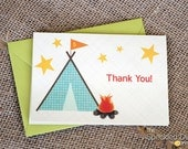 Get Campy - Set of 8 Thank You Notes