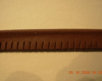 Leather piping welting 1/2 in with cord, slashed/ cutedge Black  18 Yd winder