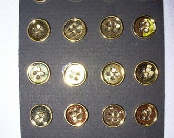Ralph Lauren metal button gold plated 1/2 In  4Hole    20 P