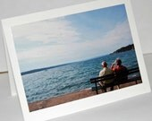 Couple on the Lake - Photograph Blank Note Card