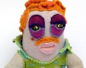 Redhead guy-Art sock doll