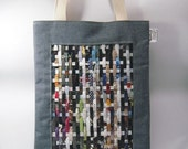 FREE SHIP Sale - recycled tote by weave paper love eco