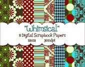 Digital Scrapbook Paper Pack