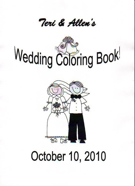 It is a graphic of Selective Personalized Wedding Coloring Book