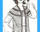 Vintage Crochet Pattern for Short Sleeve Sweater or Shrug
