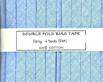 Handmade Double Fold Bias Tape - Daisy