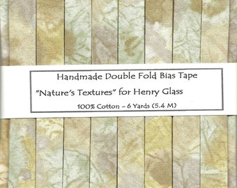 """Double Fold Bias Tape -  """"Nature's Textures"""""""