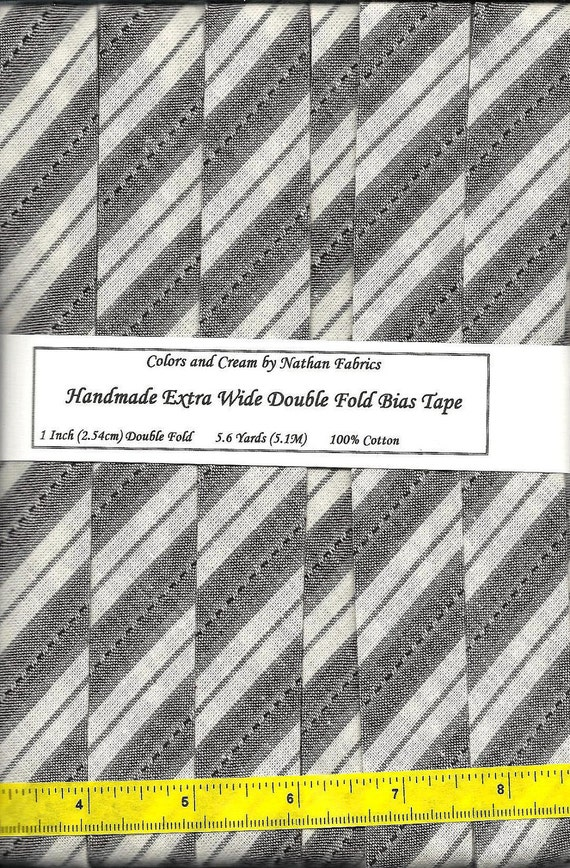 Extra Wide (One Inch (2.54cm)) Double Fold BIAS Tape - 5.6Yards (5.1M)
