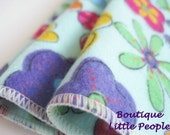 Funky Flowers Flannel  Facial Scrubbies .. Great for Baby Cloth Washcloths too  SET OF 3