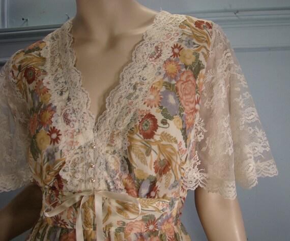 Lace Flutter Prairie Dress- Early 70's