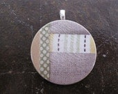 Quilted Linen Pendant