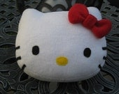 Hello Kitty Head Pillow with Red Bow