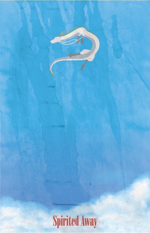Spirited Away 11 x 17 movie poster