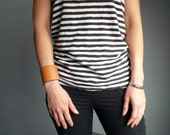 Natural Tan HOLMES Basic Leather Cuff - Small