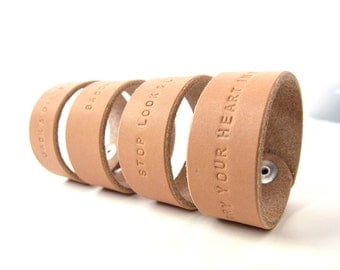 Additional Lettering for the 'Say Anything' Leather Bracelet Band