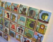 Set of 26 JennSki Alphabet Magnets