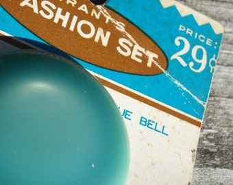 Vintage aqua to light teal buttons on card  Grants  brand
