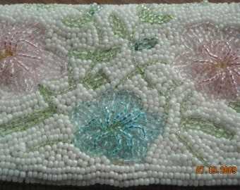 Vintage beaded clutch hand bag - excellent condition