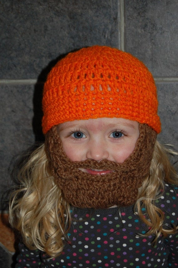Lumberjack First Birthday, Lumberjack Party Supplies, Lumberjack Baby Shower, Baby Beard, Beard Beanie, Baby Beard Hat, Orange Beard Hat