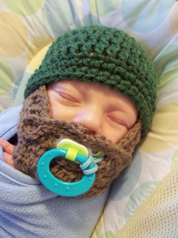 Lumberjack First Birthday, Lumberjack Party Supplies, Lumberjack Baby Shower, Baby Beard, Baby Beard Beanie, Baby Beard Hat, Green Beard Hat