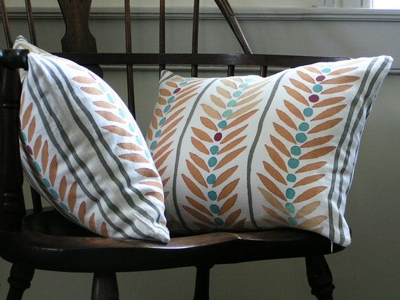 Hand Printed Pillow Covers Hand Printed Textile Block Printed By Hand Printed Linen Cushion Cover Throw Pillow