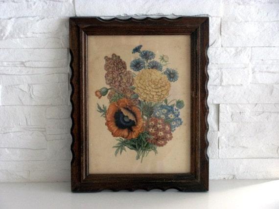 Vintage Flower Print and Frame N 1