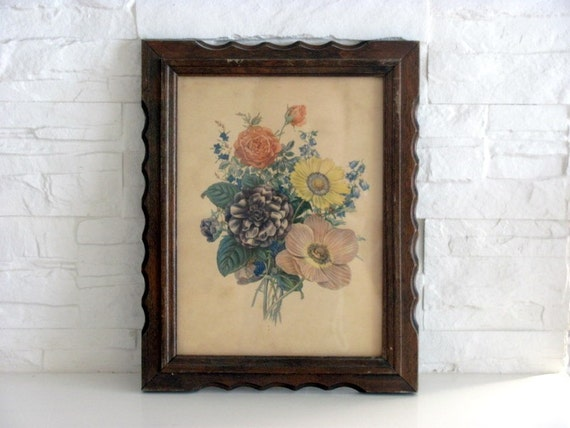Vintage Flower Print and Frame N 2