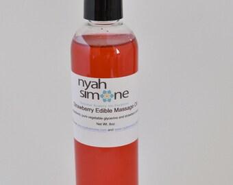 Strawberry Edible Massage Oil, 4oz