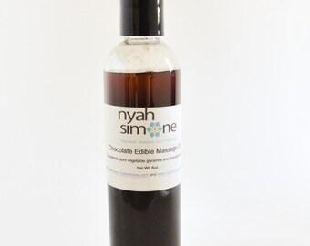 Chocolate Edible Massage Oil, 4oz