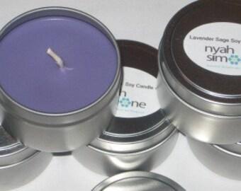 Lavender Sage Soy Massage Candle 6oz