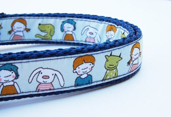 Me and My Friends - Dog Collar / Pet Accessories / Handmade / Adjustable