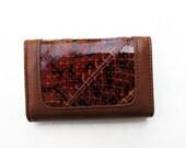 1970s Snake Wallet, Vintage Bosca Key Wallet as New