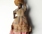 Native Doll Virgin Islands Primitive Cloth and Wire